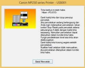 Canon mp258 error e16